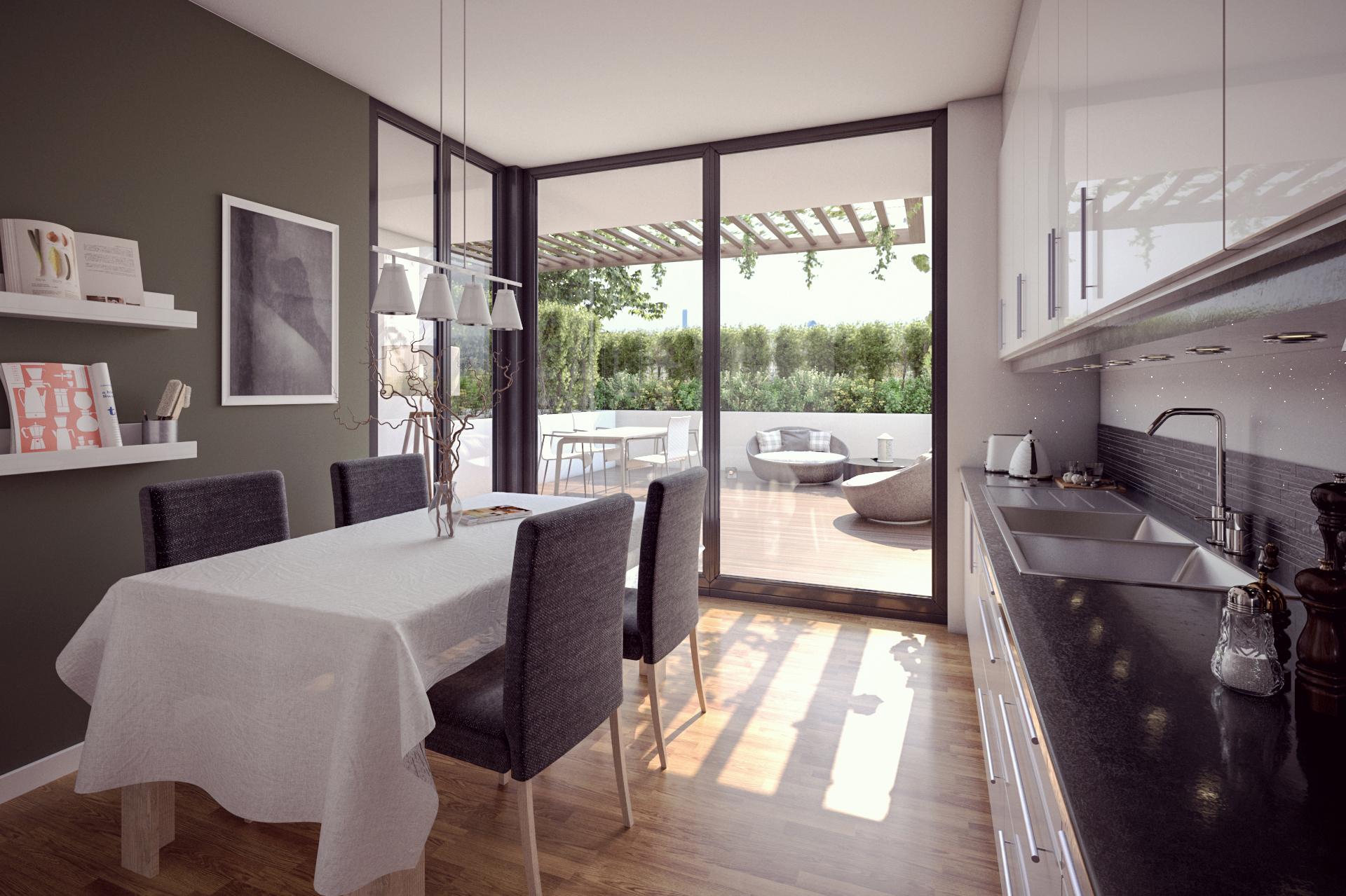 living room salotto rendering