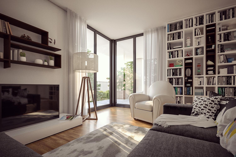 soggiorno living room rendering
