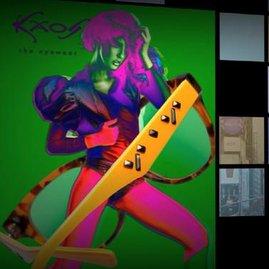 VIDEO EYEGLASSES OCCHIALI MODERNI POP ART