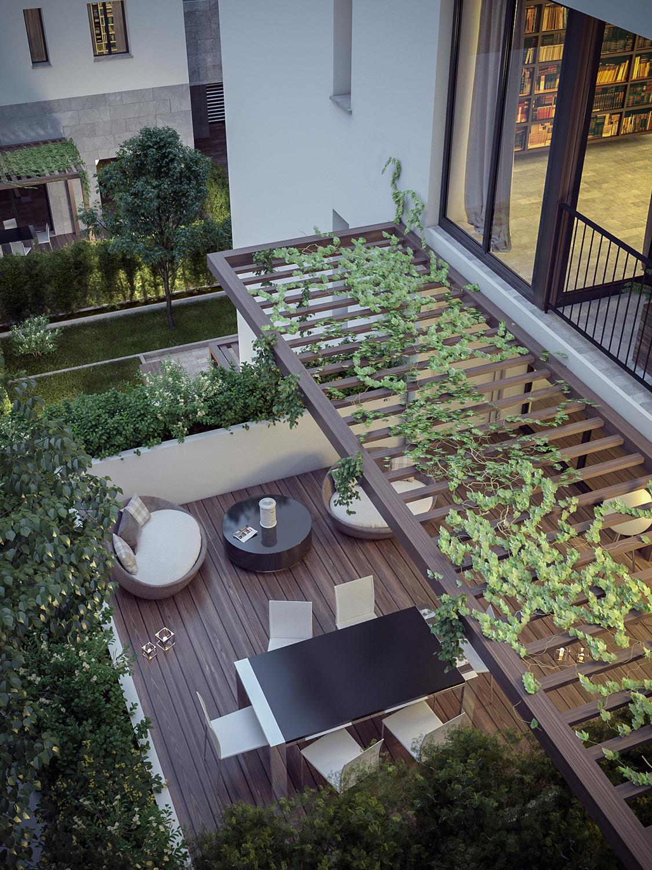 Terrace terrazzo rendering