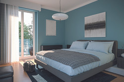 bedroom camera da letto rendering