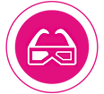 icona video, 3d modeling, realtà virtuale e aumentata