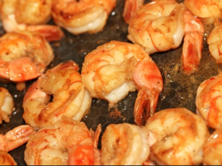 Sous Vide Shrimp - Larry Pile