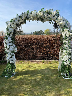Ivory & White Floral Wedding Arch