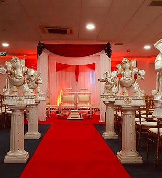 Floral Draped Mandap_Royale Banqueting S