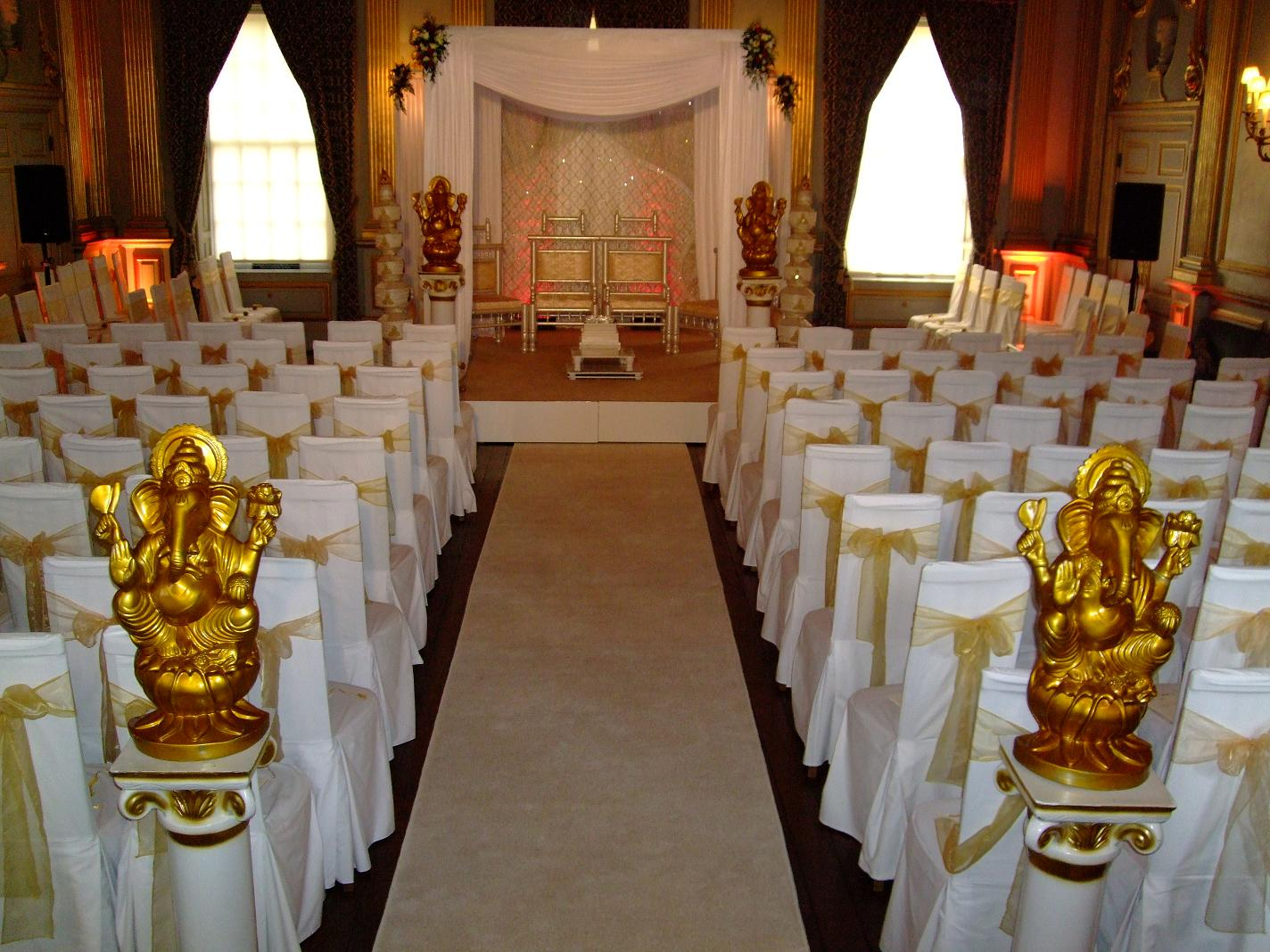 Knowsley Hall Liverpool - Floral Draped Mandap.JPG