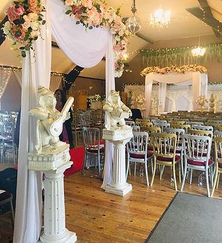 Lakeside Venue Bridgend_Floral Draped Ma