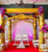 Golden Devdas Mandap at Eynsham Hall Oxf