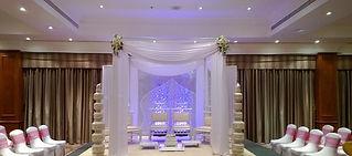 Floral Draped Mandap - Coventry Hilton.j