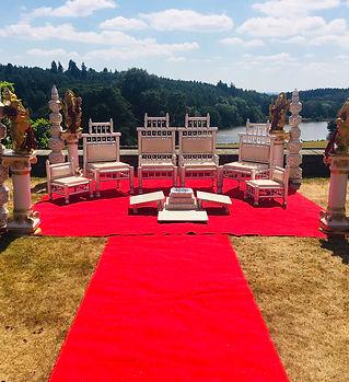 Open plan Ganesh mandap at Osmaston Park
