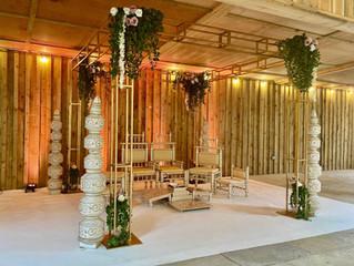 Anika Gold Mandap - elegant wedding mandap decor...