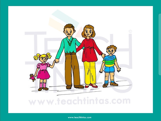 My Family (Color Flashcards)