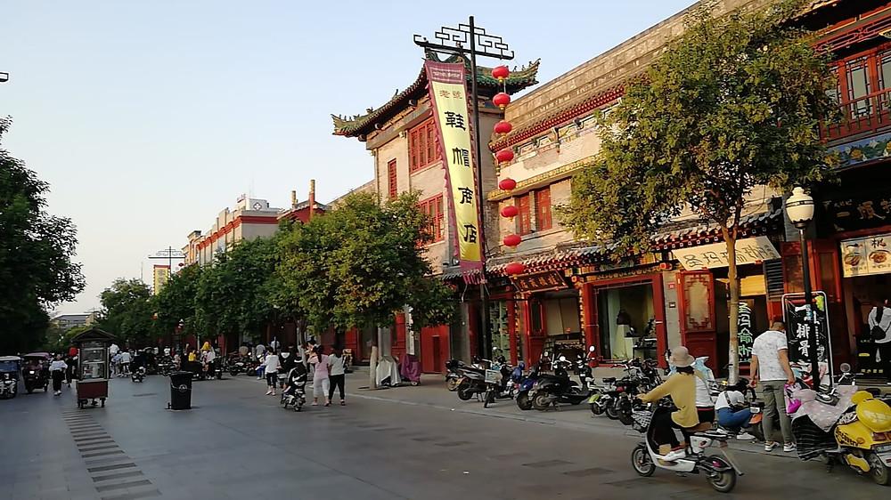 Zona histórica de Kaifeng, conocida como la Calle de las Librerías
