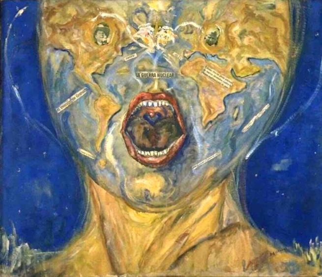 El grito a la guerra nuclear, 1982. Rosa Escalona Marín. Primer premio de pintura femenina vasca.