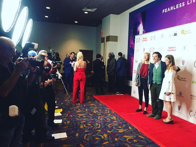 Evan O'Brien and Kristyna Archer attend the Culver City Film Festival with their film The Future Is Female PSA