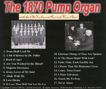 The 1870 Pump Organ with The OFRH Choir