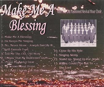 Make Me A Blessing  by OFRH Choir