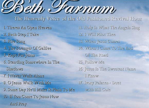 Beth Farnum The Heavenly Voice of the Old Fashioned Revival Hour