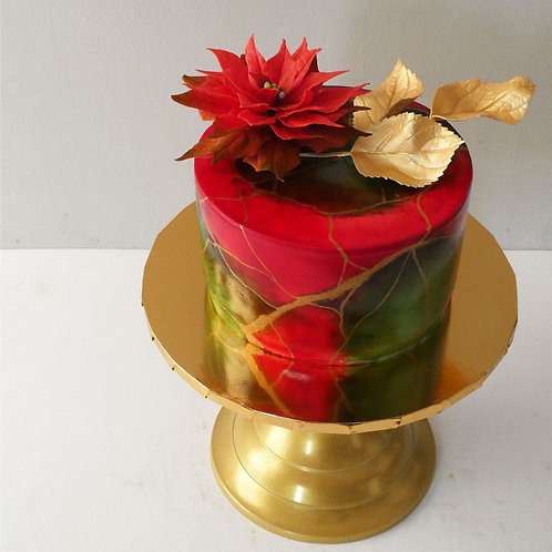 RED, GREEN & GOLD Luxury Christmas Fruit Cake