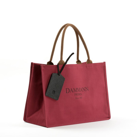 SHOPPING BAG DAMMANN - ROUGE