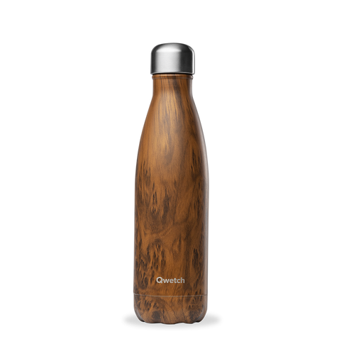 Bouteille isotherme Qwetch - Wood 50cl