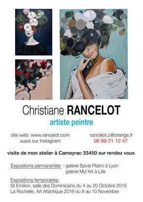 Christiane RANCELOT en exposition à Saint Emilion du 4 au 20 Octobre 2019