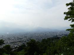 地附山からの長野市です。