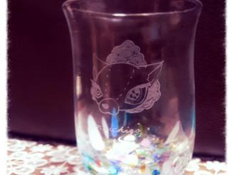 グラス作りましたー!