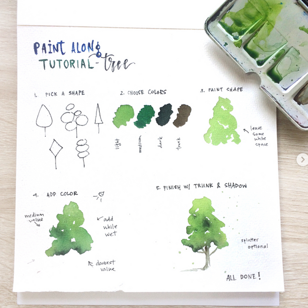 Paint Along Tree Tutorial