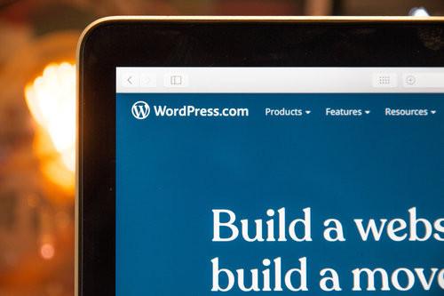 Partial screenshot of a WordPress website builder page