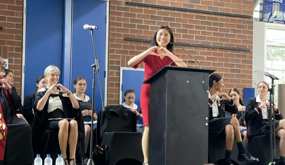 Catherine Yang Pymble Ladies College Foundation Day Speech