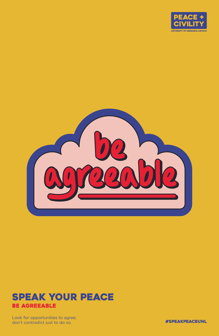 Be Agreeable