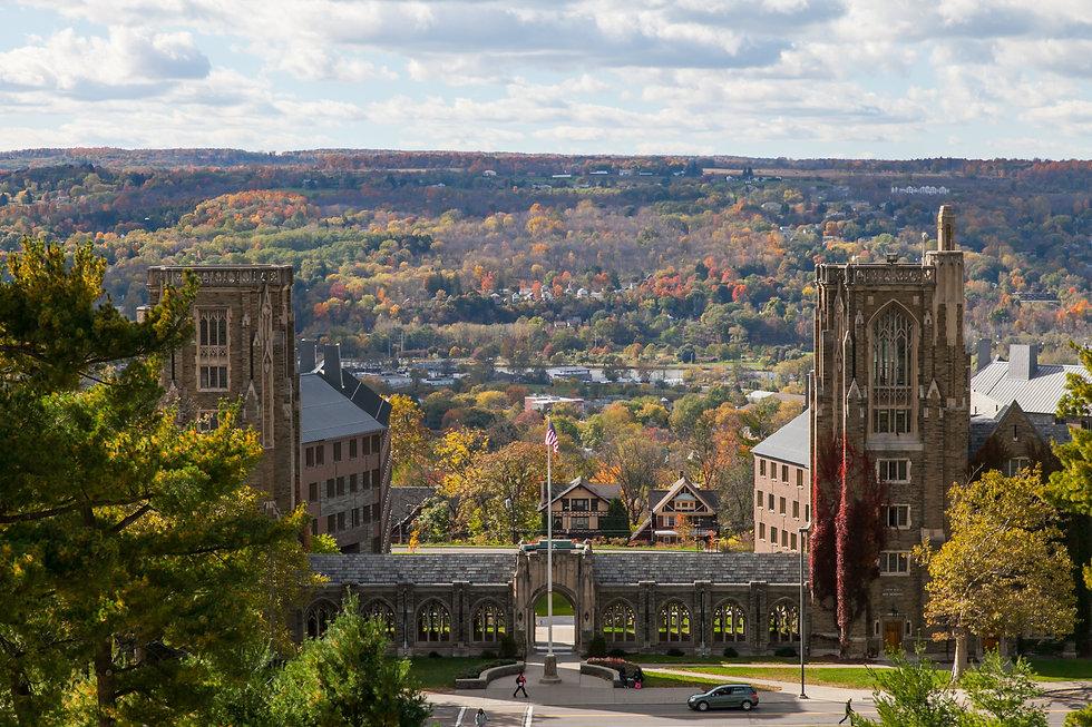 Overlook of War Memorial Hall Cornell Un