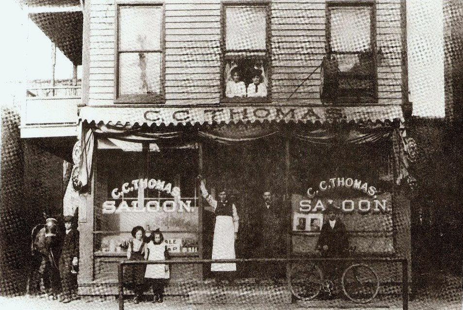 A Saloon in Harmar. The women in the upstairs window were probably 'ladies of the evening'