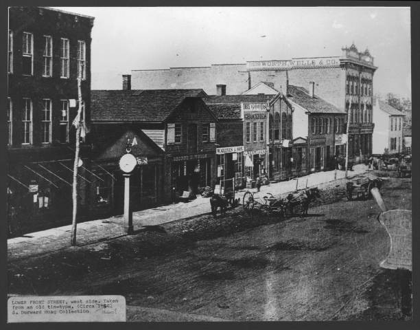 Bosworth & Wells Co. on Front Street in 1860