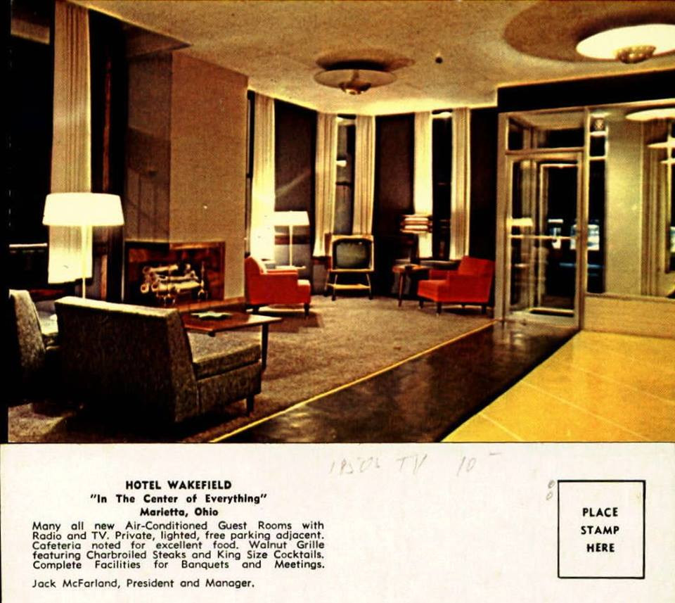 Postcard of the Wakefield hotel lobby