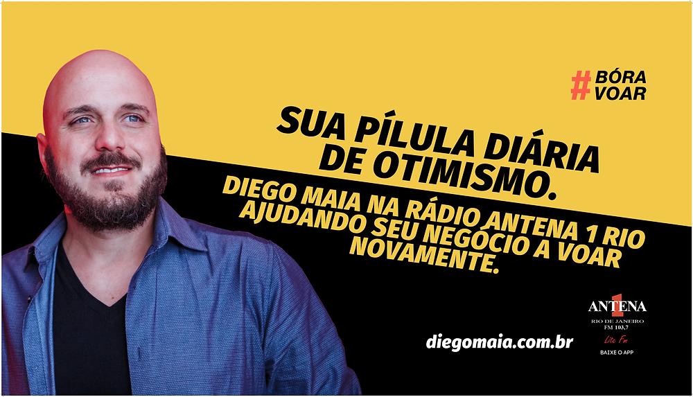 Diego Maia na rádio Antena 1