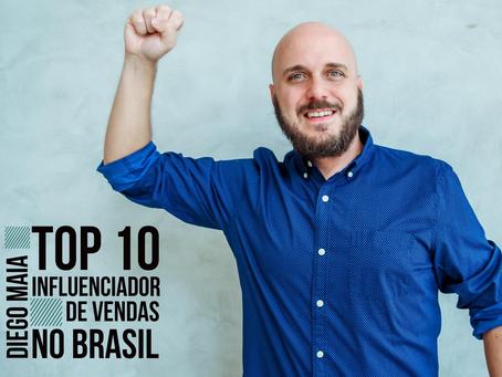Diego Maia é eleito um dos maiores influenciadores de vendas do país