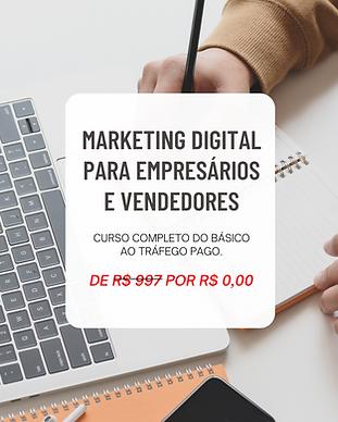 Curso Marketing Digital para Empresários e Vendedores com Diego Maia. Gratuito para membros da Academia de Vendas.