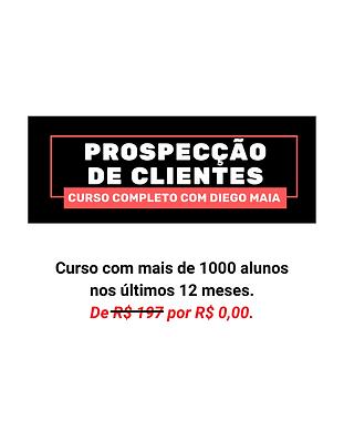 Curso completo de Prospecção de Clientes com o palestrante de vendas Diego Maia. Gratuito para membros da Academia de Vendas