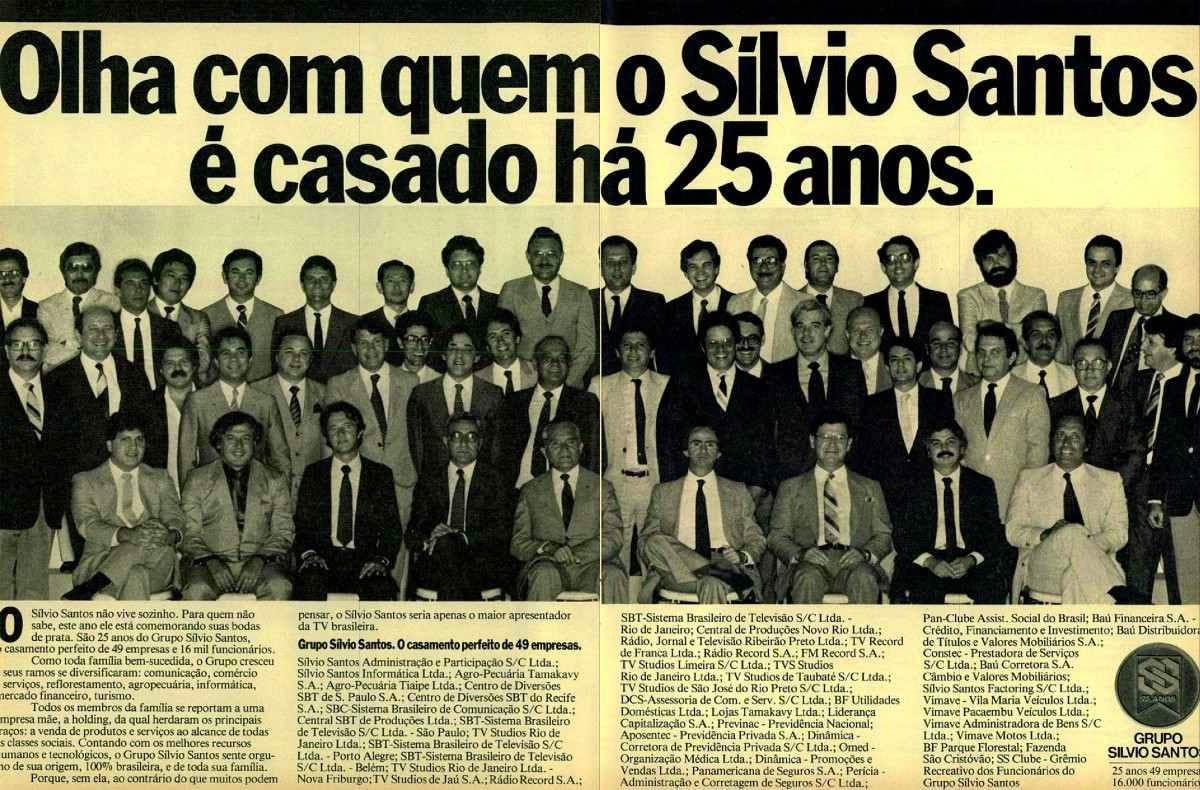 grupo silvio santos propaganda 25 anos.j