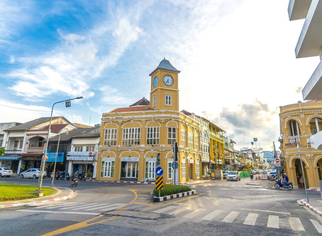 Phuket Old town : The historical street of Phuket