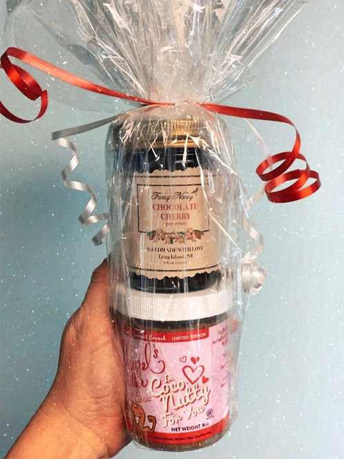 """I'm Coco-Nutty for you"" and Chocolate Cherry Preserve Combo Pack"