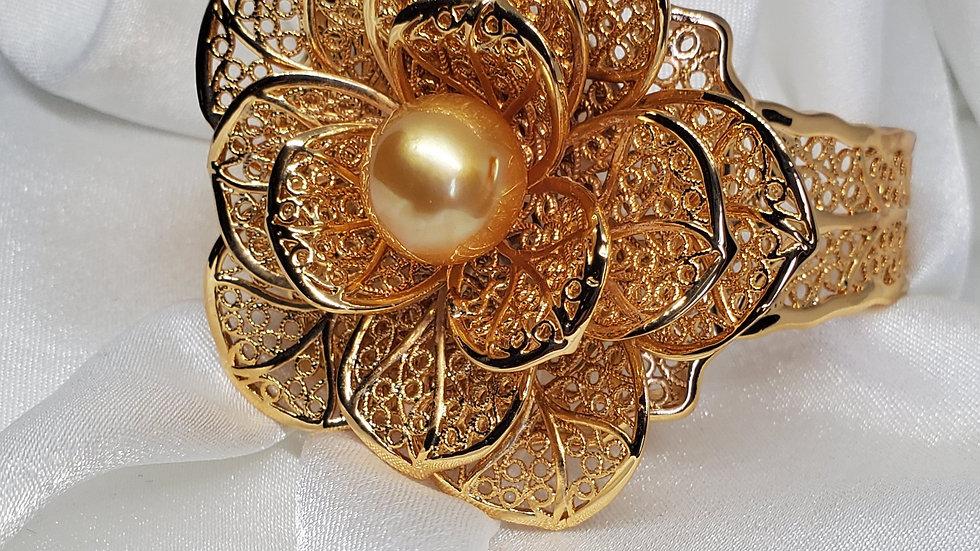 Golden Flower Bangle