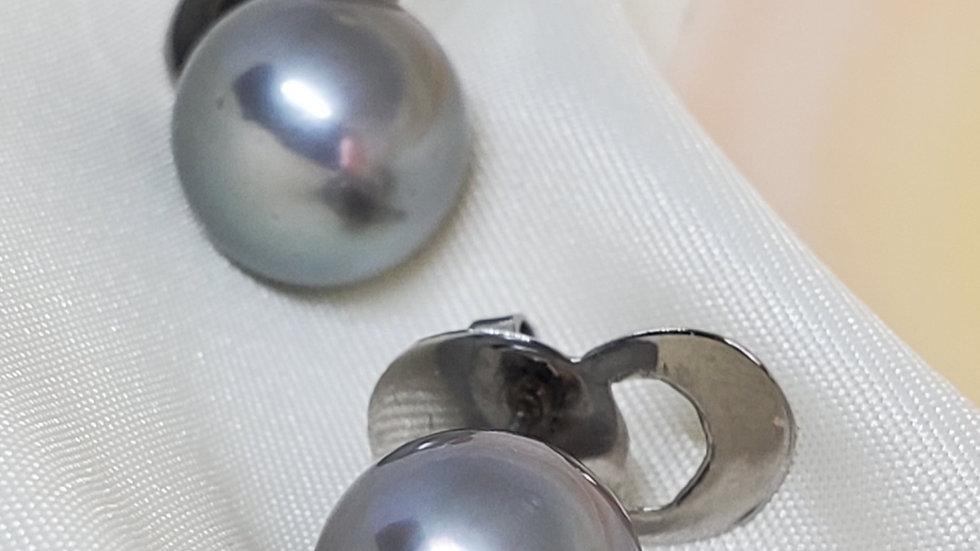 Bluish Gray Earrings Stainless