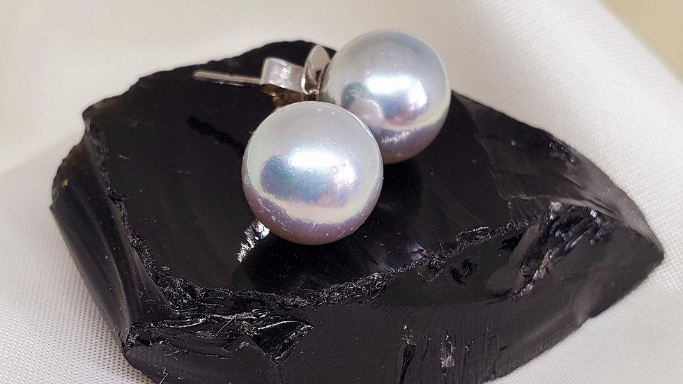 Metallic Gray Earring
