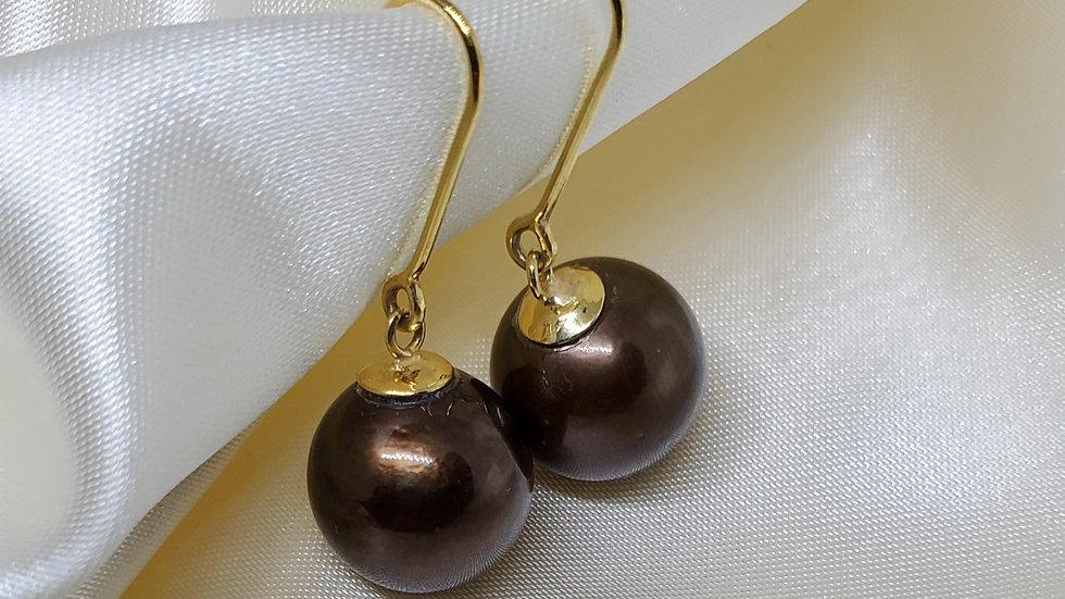Chocolate Brown Dangling Earrings