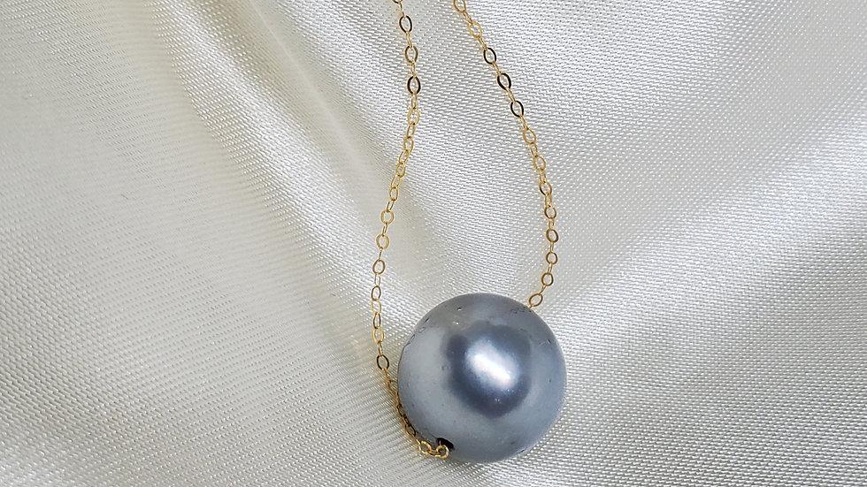 Bluish Gray Slider Necklace
