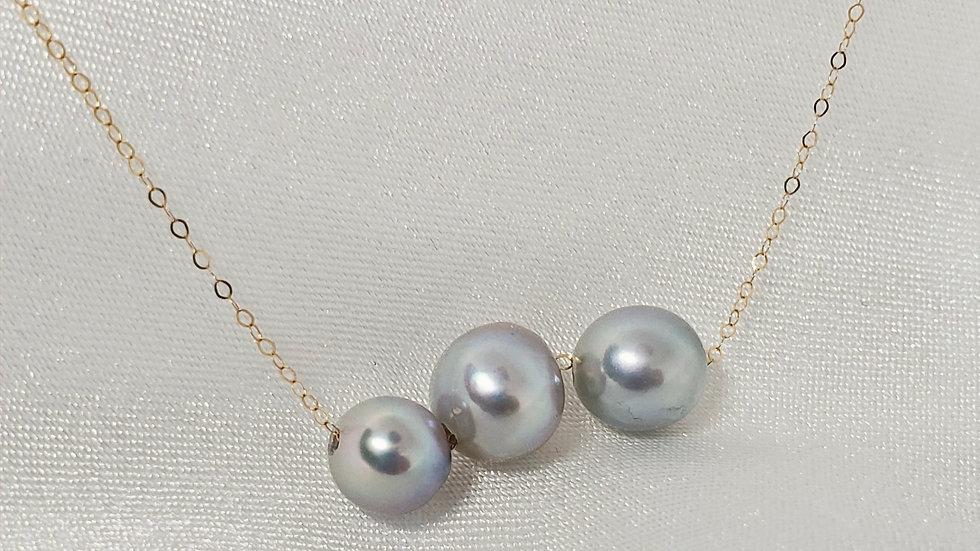 Blue White Slider Necklace