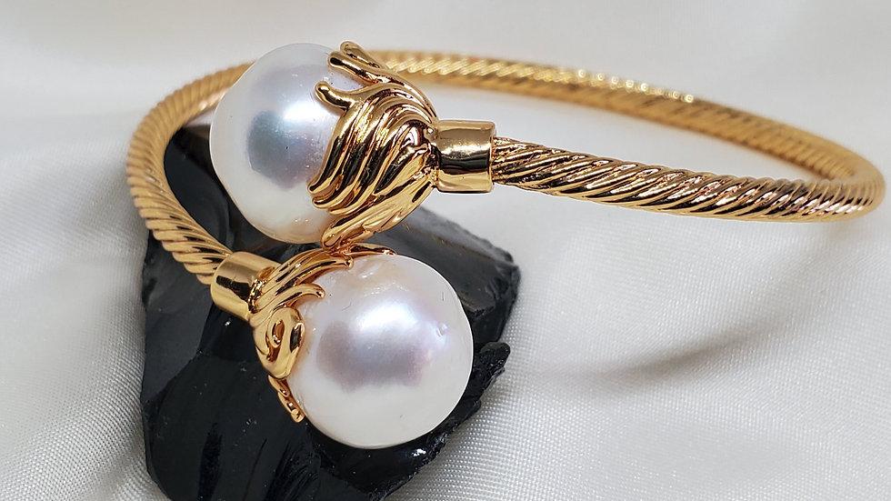 White Pearl Bangle